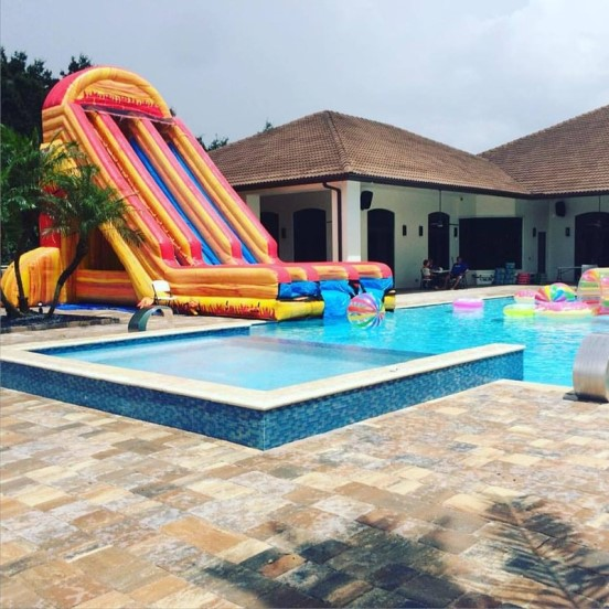 Water Slide Rental into a Pool